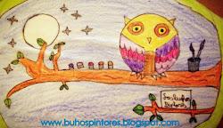 El logo del blog de los búhos pintores