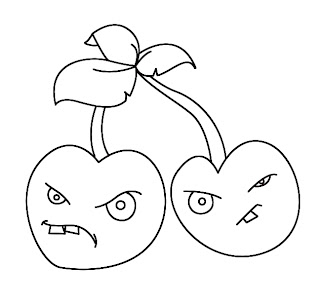 How To Draw Plants vs Zombies Cherries Step 7