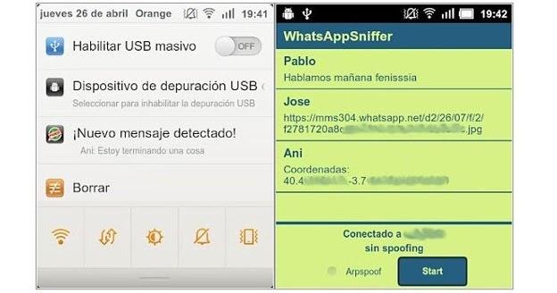 Descifrar conversaciones de WhatsApp enviadas por la red