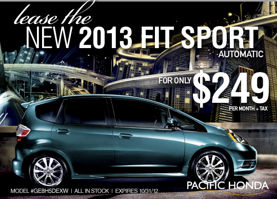 Pacific honda blog lease a 2013 honda fit sport for Honda fit lease price
