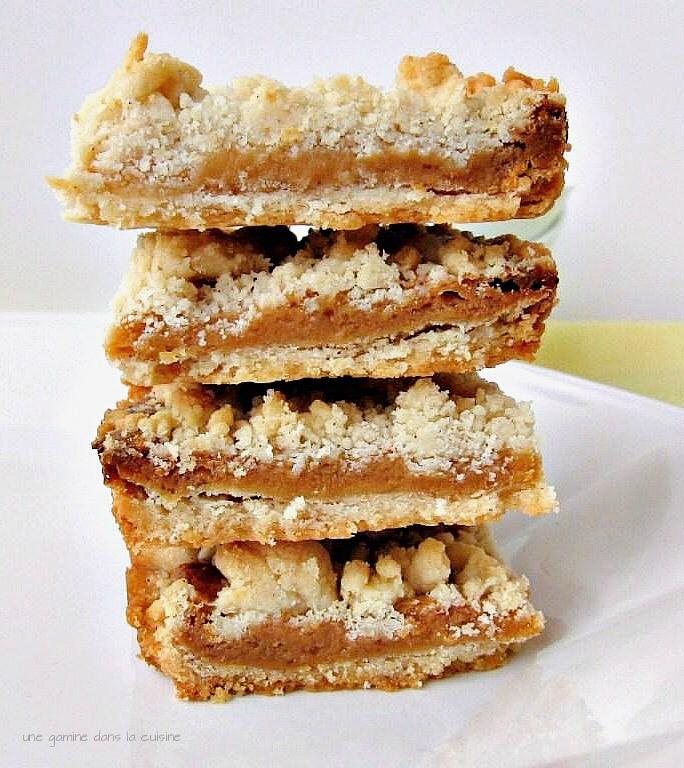 caramel crumb bars | une gamine dans la cuisine