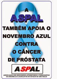 ASPAL APOIA CAMPANHA CONTRA CÂNCER DE PRÓSTATA