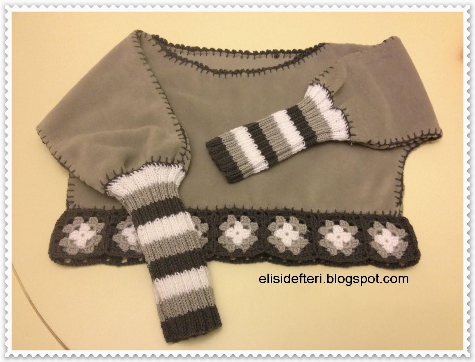 fleece sweater tutorial