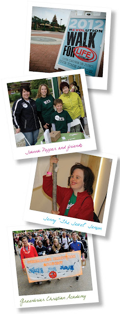 2012 Walk for Life Contest Winners and Special Recognitions