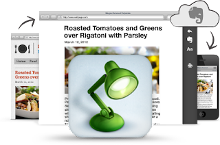 Evernote Clearly: Image of spotlight and webpages