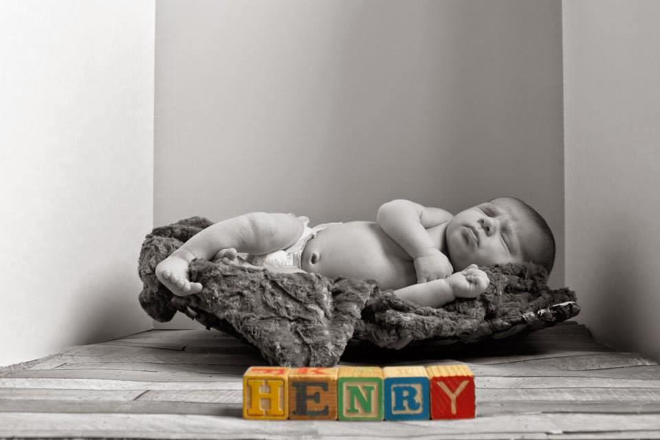 antique blocks, blocks in newborn photo