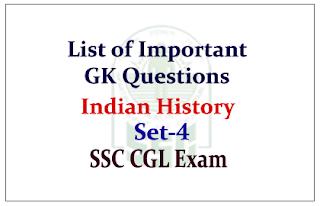 GK Questions from Indian History for Upcoming SSC Exam