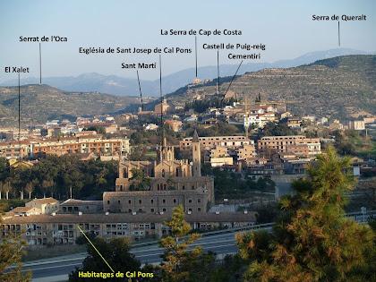 Panoràmica de Puig-reig i la Colònia Pons des del primer avituallament