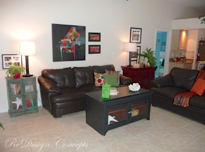 FAMILY ROOM - AFTER REDESIGN