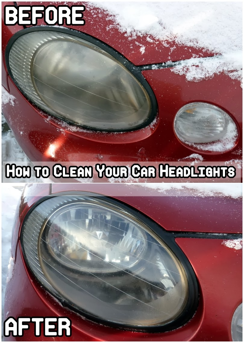 Are On Your Headlights : The cheapest way to clean your car headlights diy craft