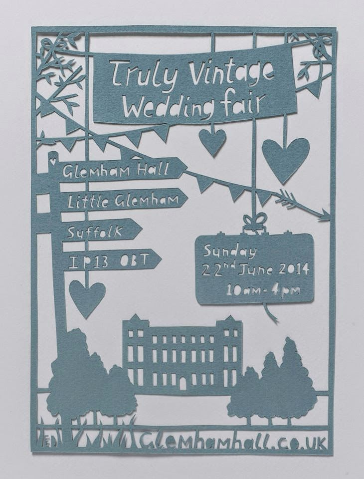 Glemham Hall - Truly Vintage Wedding Fair - Emma Daniels Paper-Cut
