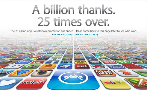 Apple 25 billions Apps image
