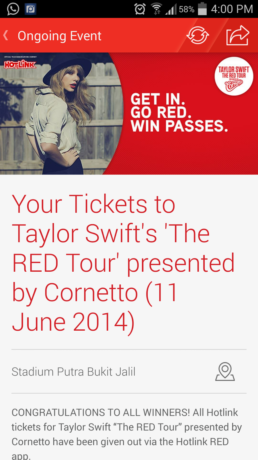 Taylor Swift 'The RED Tour' ULTIMATE Fans Event @ Publika 7th June 2014 (Saturday) The Square, Publika