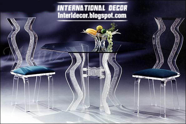 Luxurious Glass Dining Room Furniture, Glass Table And Chairs Furniture