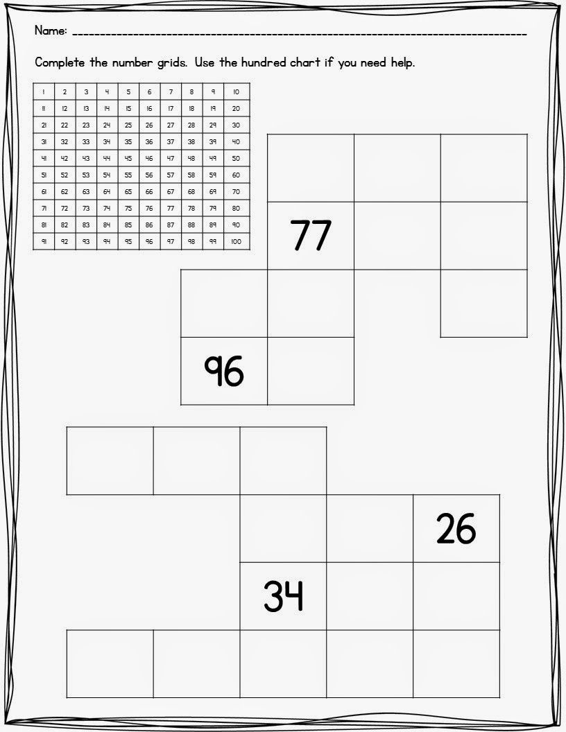 worksheet Number Grid Puzzles the neat and tidy classroom april 2014 httpwww teacherspayteachers comproductadding i included hundred grid puzzles