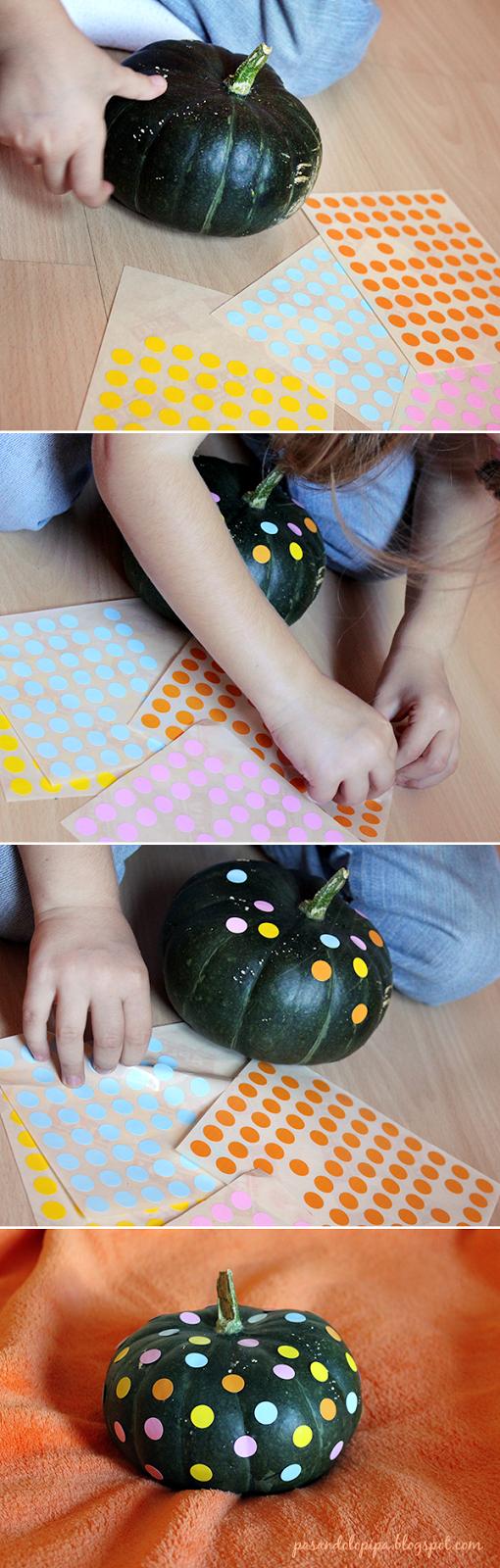 pasandolopipa | decorar calabaza con niños