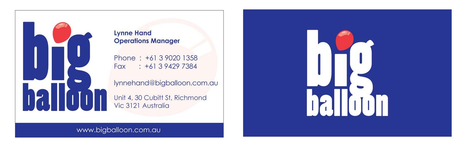 Big Balloon Medium Business Card Task Create Business Card For Big