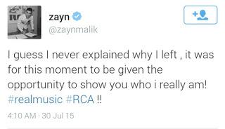 Zayn Malik explains why he left One Direction