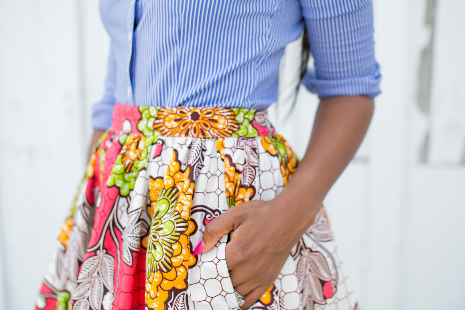 Midi floral skirt on Jadore-fashion.com