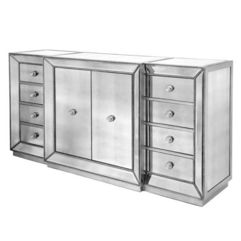 Copy cat chic horchow shilo two door mirrored console