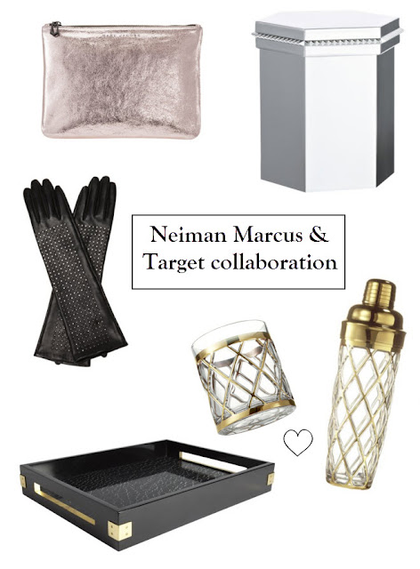 Neiman Marcus Target collaboration, Altuzarra, Marc Jacobs, Brian Atwood, leather gloves, Eddie Borgo, shaker set, cocktail set