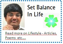 Set Balance In Life