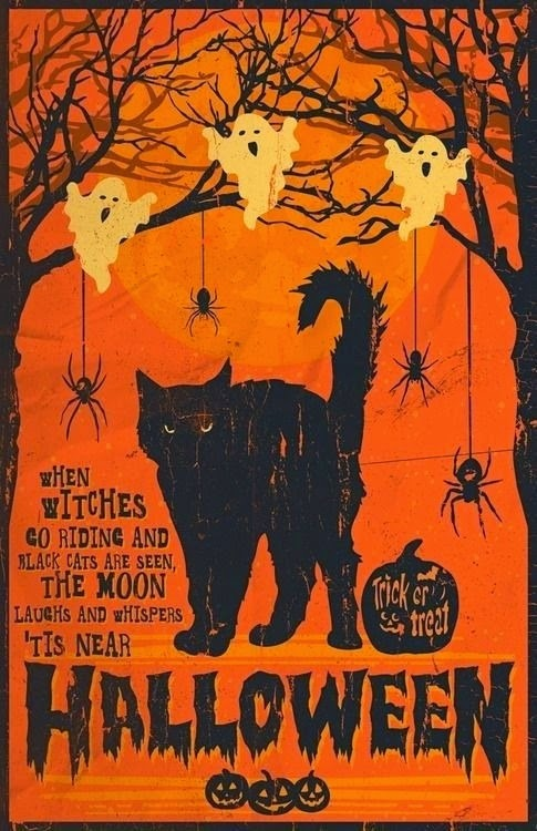 Oh, by the way...: Vintage Halloween Illustration, 2014