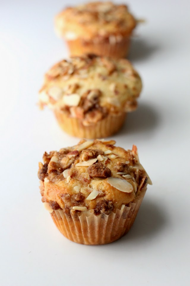 Jam Filled Muffins with Streusel