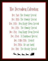 The December Calendar: