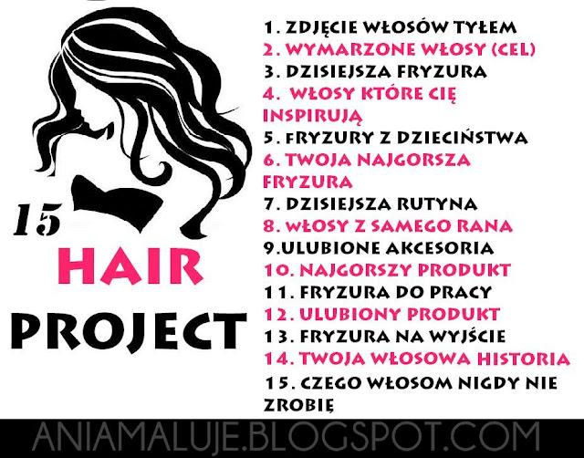 TAG: 15 HAIR PROJECT, włosy, włosomaniaczki