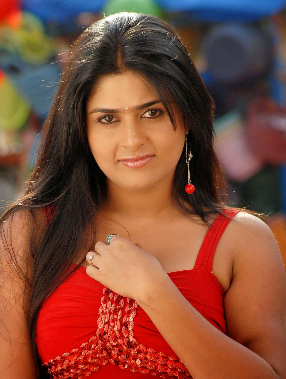 Telugu New 2014 Actress Manjulika Beautiful Saree HD