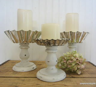 repurposed jello molds upcycled candle holders