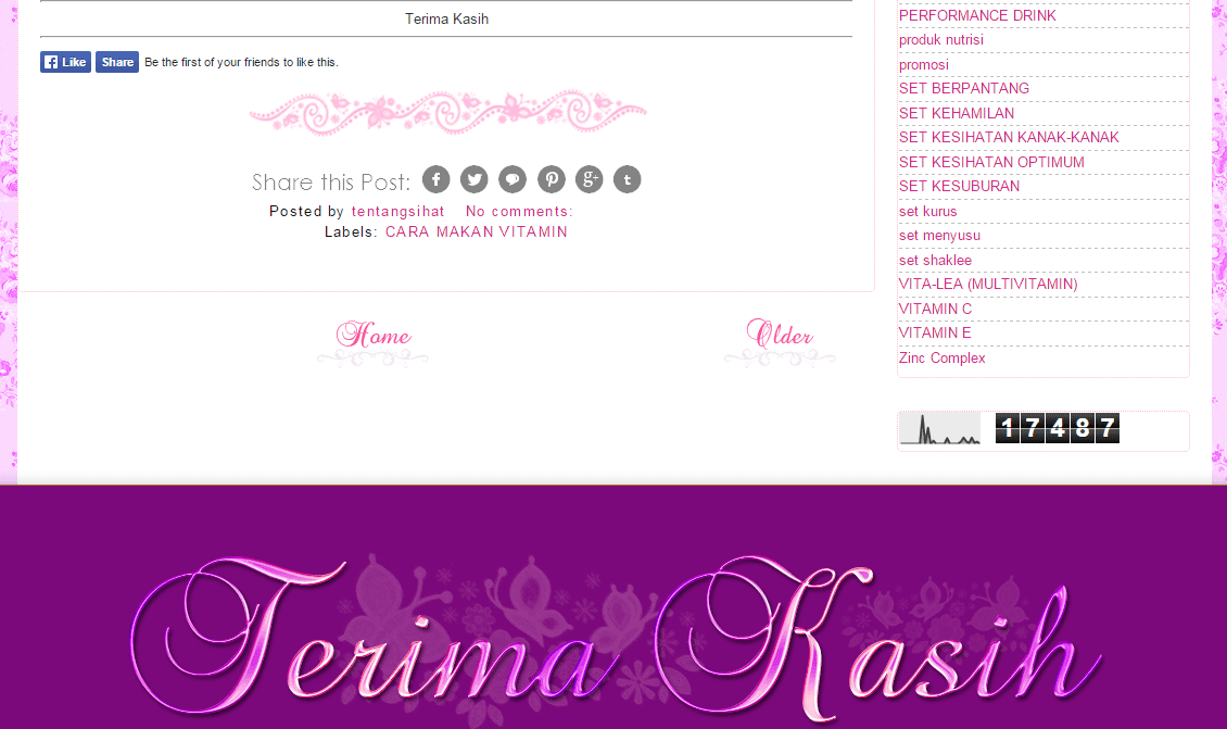 Template Blog Wani Razif, edit blog murah, design blog murah