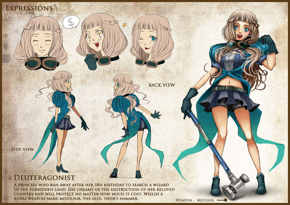 Anime Character Design Jobs : Daydreamer character design