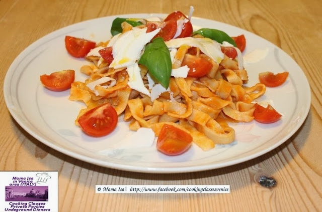 Recipe of the day: Fresh Fettuccini with Garlic, Chilli, Tomato and Basil (recipe courtesy Mama Isa)