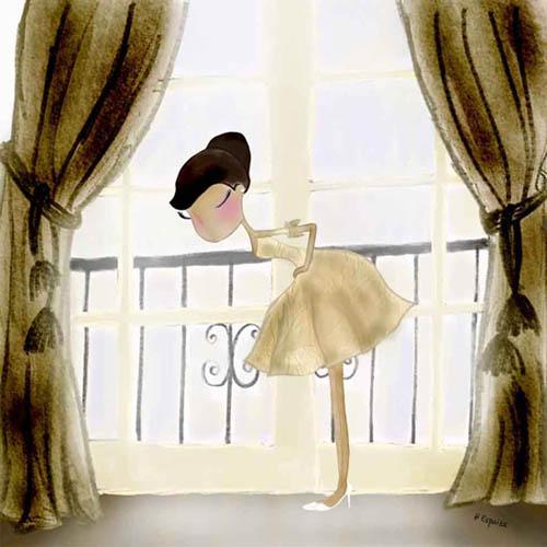 ilustracion dibujos bailarina