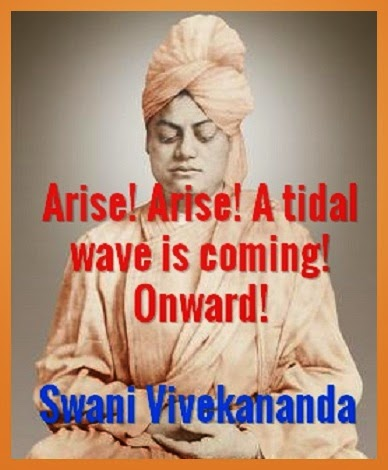 Arise! Arise! A tidal wave is coming! Onward!