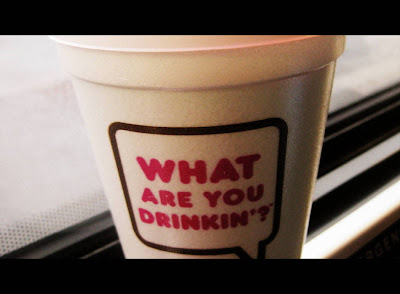 Medium Dunkin Donuts Coffee with Cream and Sugar - Photo by Michelle Judd of Taste As You Go