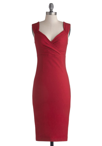 Gorgeous Crossover Neckline Red Dress