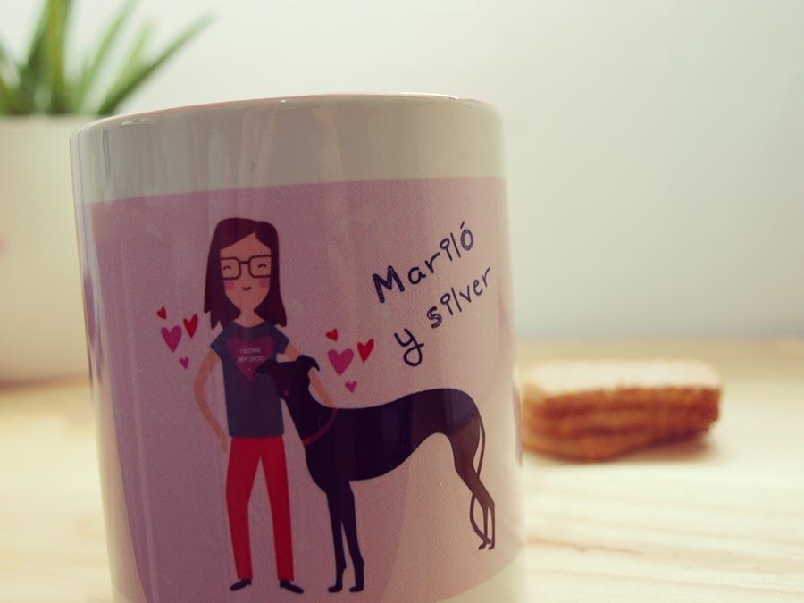 Amor perruno: taza personalizada para Silver y María