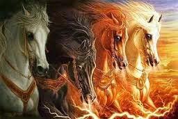 suposta aparição sobrenatural de um dos cavaleiros do Apocalipse