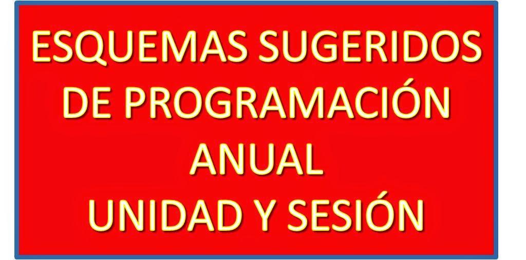 ESQUEMAS SUGERIDOS DE PROGRAMACIÓN ANUAL 2015