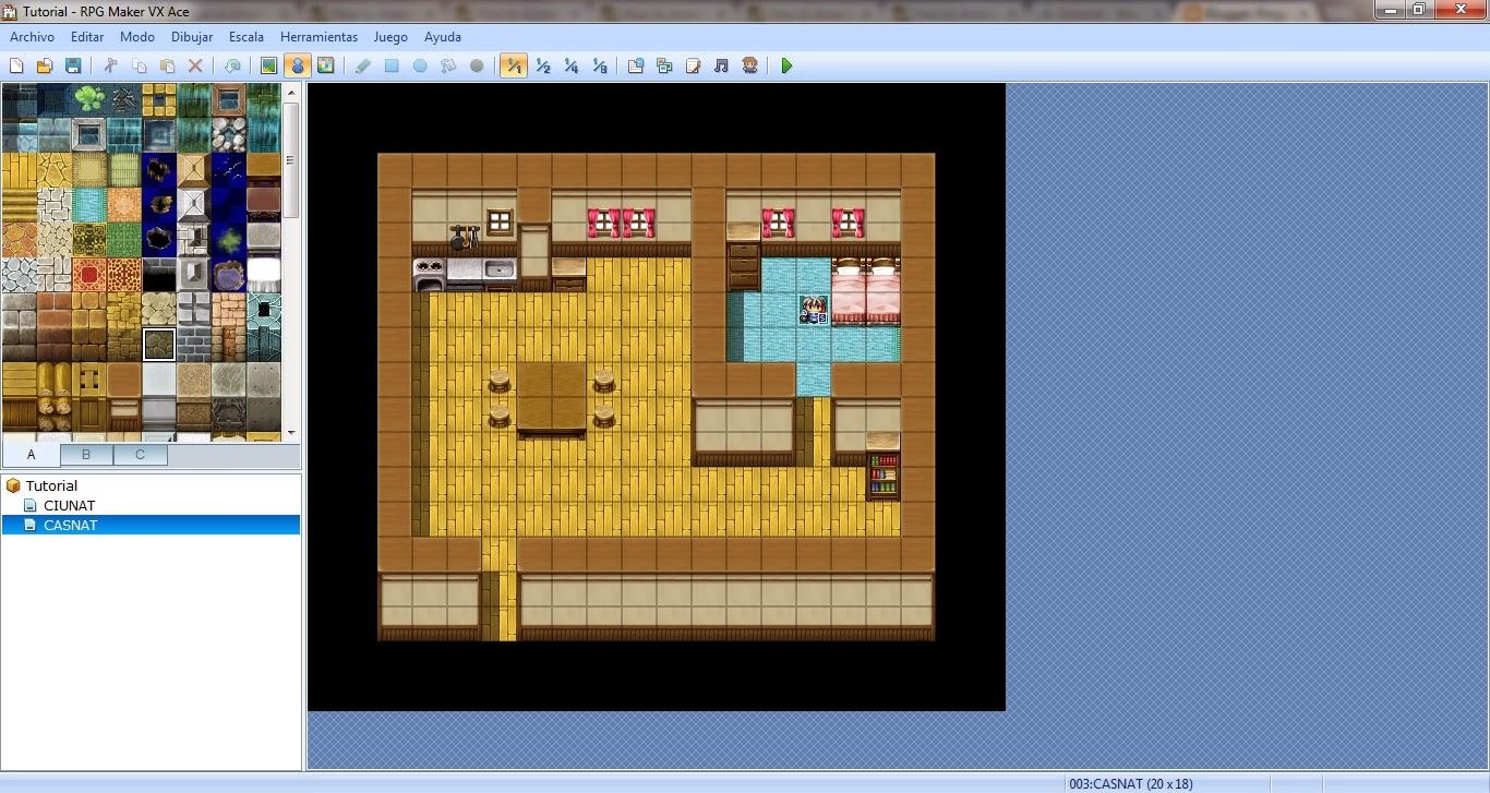 mapas predefinidos que vienencon RPG Maker VX Ace , en concreto éste