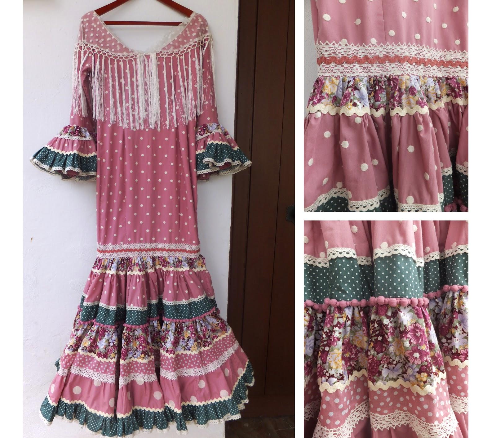 Carretasybueyes colecci n 2013 canastero en tonos empolvados - Telas de flamenca online ...