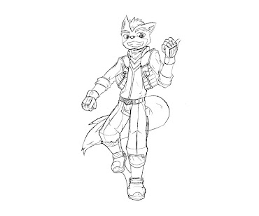 #7 Fox McCloud Coloring Page