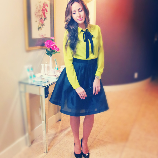 Lime Green outfit Classy Polished Look