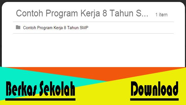 Download Program Kerja Sekolah