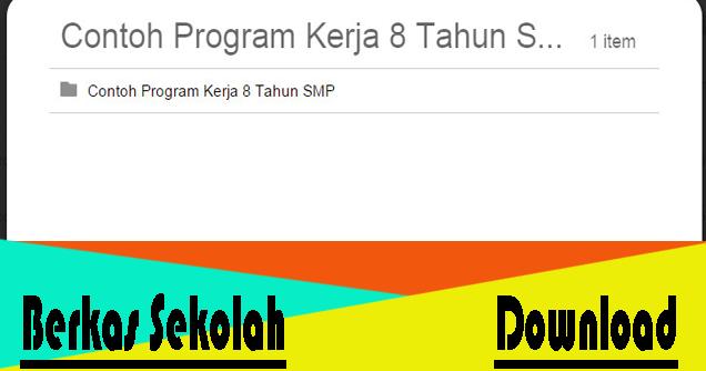 Download Program Kerja Sekolah Berkas Sekolah