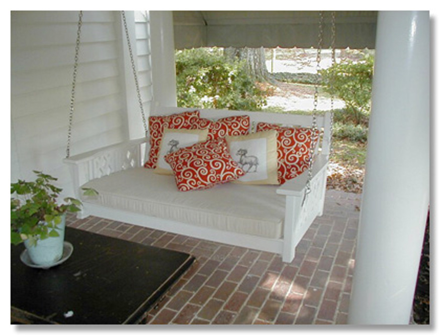 ... porch with antique swing chair country living 3 swing bed in coastal