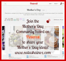 Click here to find out about the Mother's Day group board on Pinterest